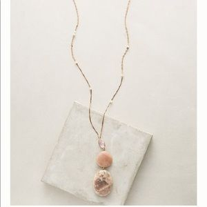 NWOT Anthropologie Sand Dunes Long Rose Necklace